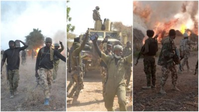 Sambisa Forest Celebration2 - Troops Eliminate 81 Boko Haram Fighters, Lose Soldier From Landmine (Photos)