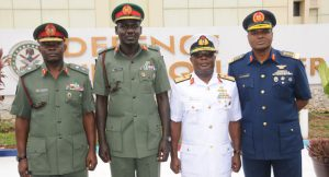 Service chiefs Nigeria military 300x162 - 'One Mistake We Made On Security Issues In Nigeria' – Ex-Service Chiefs