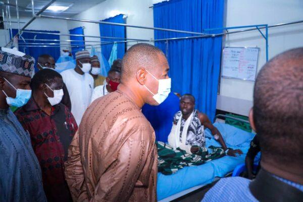 What Zulum Said During Visit To Maiduguri Blast Victims