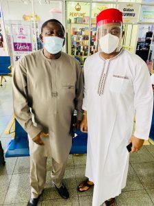 ffk adesina 225x300 - 'I Am In Trouble' – Fani-Kayode Bumps Into Buhari's Aide [Photos]