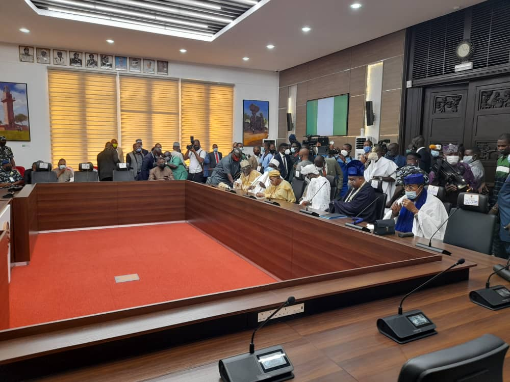 oyo1 - BREAKING: Buhari's CoS, DSS, IGP Adamu, Makinde, Others Attend Security Meeting [Photos]