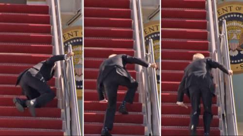 Moment Joe Biden Fell While Boarding Air Force One (Video)