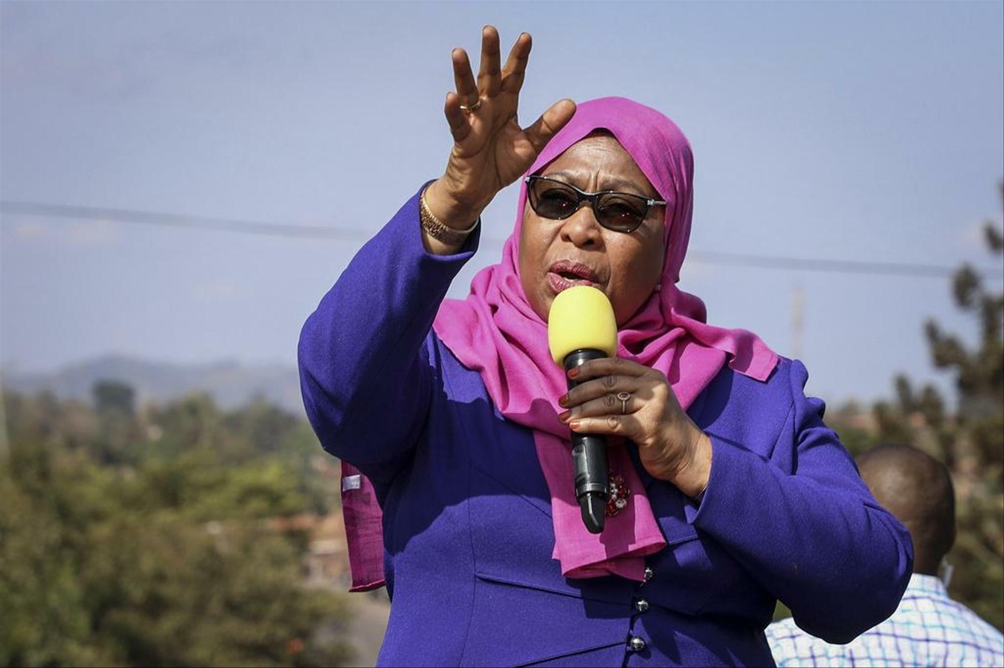 Samia Suluhu Hassan becomes the first female president of Tanzania.