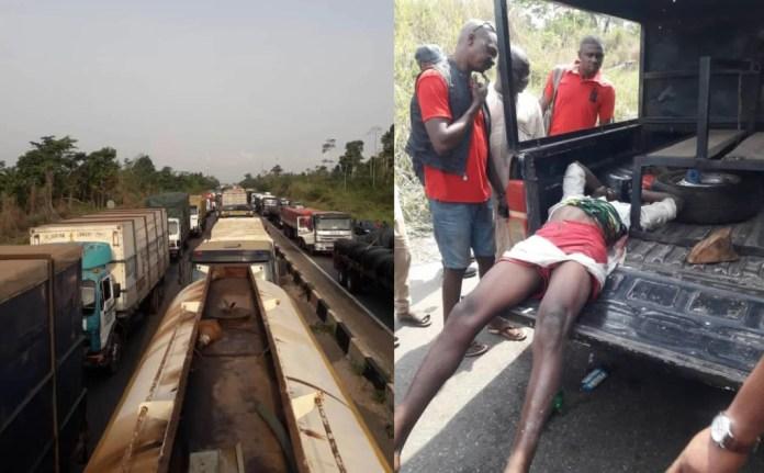 Tanker Drivers Block Lagos-Benin Highway Over Killing Of Members