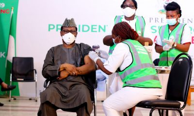 Vaccination of Dr. Faisal Shu'aib, Chairman of the National Primary Health Care Development Authority (NPHCDA)
