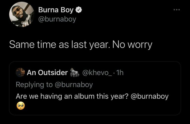 Burna Boy Hints At August 2021 Album Release