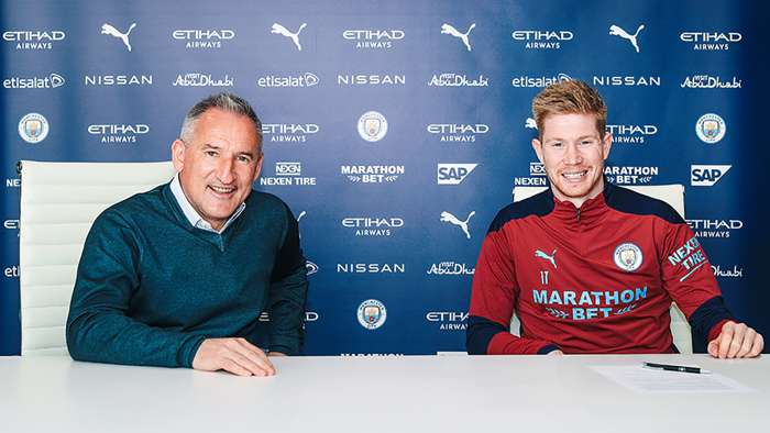 Man City Midfielder, Kevin De Bruyne, Signs Two-year Contract Extension Until 2025