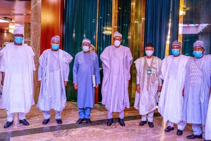 President Buhari Meets Northern Governors [Photos]