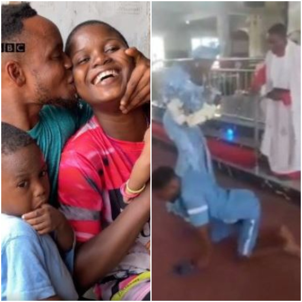 Disabled Nigerian man and his wife