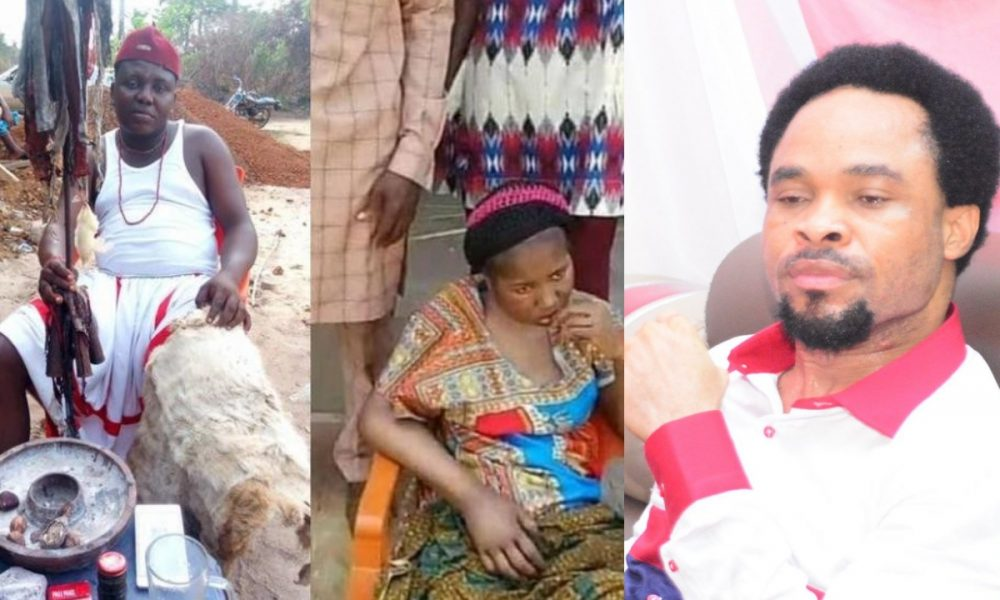 Native Doctor Begs Prophet Odumeje To Rescue Paralyzed Lady - [Video] | Naija News