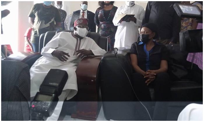 Tinubu Visits Odumakin's Widow in Lagos
