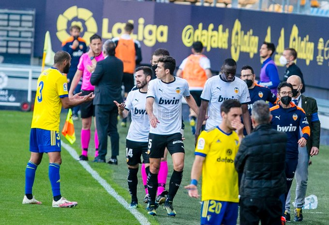 Alleged Racism: Valencia Players Walk Off Pitch In Cadiz Match