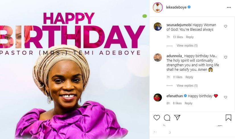 Wife Of Late, Dare Adeboye,Temi Celebrates Her Birthday  Photo