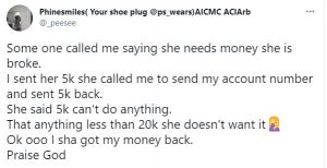 Nigerian Lady Shares Her Encounter With An Entitled Broke Friend
