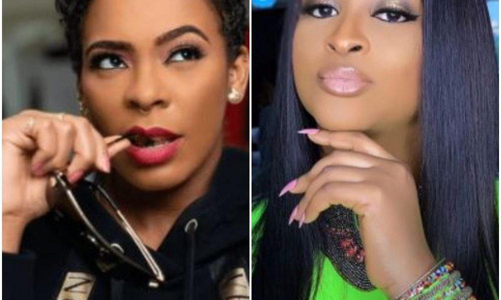 Actress Etinosa Drags Reality TV Star TBoss By 'The Hair' Over Moustache Statement