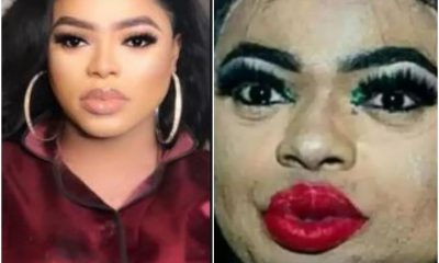 Nigerians Mock Bobrisky After An Old Photo Of His 'Real' Face Surfaces On Internet