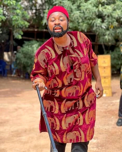 Curvy Actress, Destiny Etiko's Transforms To A Man In Traditional Igbo Attire