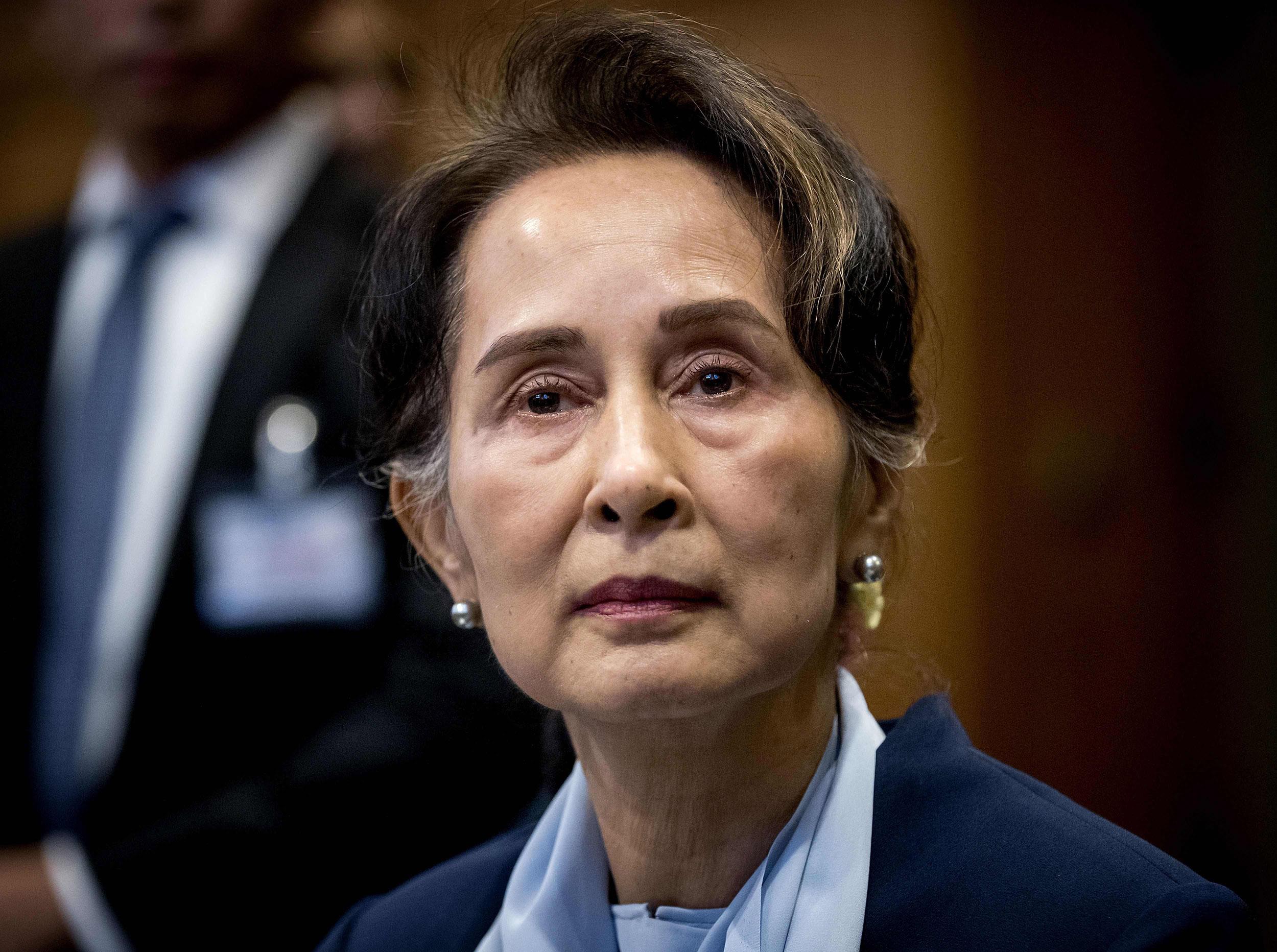 Myanmar President Aung San Suu Kyi (Photo: Koen Van WEEL / ANP / AFP)