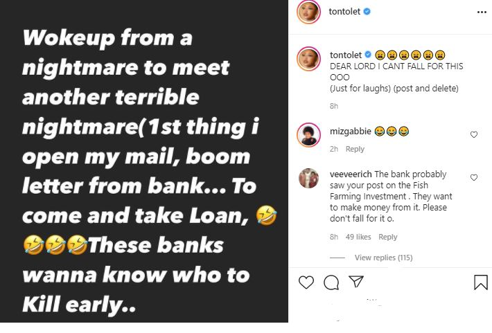 I Can't Fall For This - Tonto Dikeh Cries Out After Popular Bank Did This