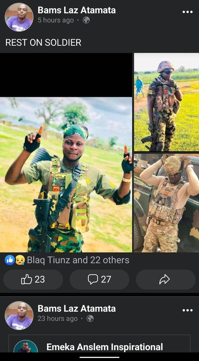 Tears Flow As Family Mourn Nigerian Soldier