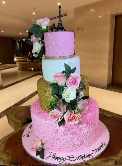 Tonto Dikeh Clocks 36 In Style, Shows Off Gigantic Cake To Mark Birthday |Photos