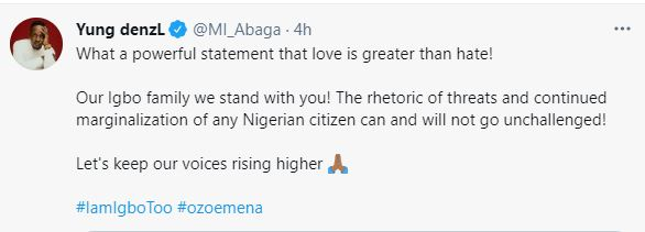 MI Reacts To Buhari's Threat, Trends #IAmIgboToo Movement   Photos