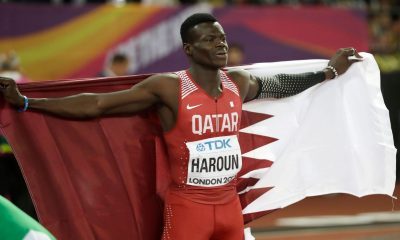 Abdalelah Haroun athlete died in a car accident on Saturday