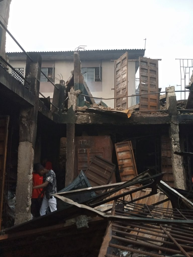 Sad! 24-Year-Old Auto Parts Dealer Loses His Shop To Fire That Gutted Ladipo Market In Lagos |Photos