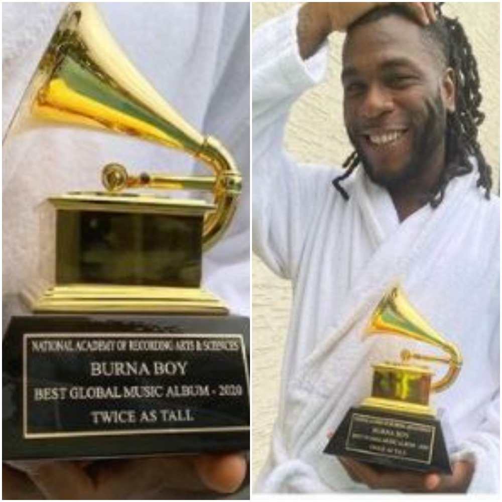 I Am A Product Of Sacrifices - Burna Boy Says As He Flaunts His Grammy Awards
