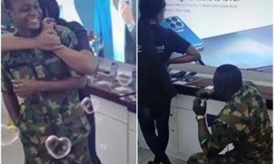 Nigerian Soldier Proposes To His Girlfriend In The Most Heart Warming Way Photo