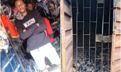 24-Year-Old Auto Parts Dealer Loses His Shop To Fire That Gutted Ladipo Market In Lagos