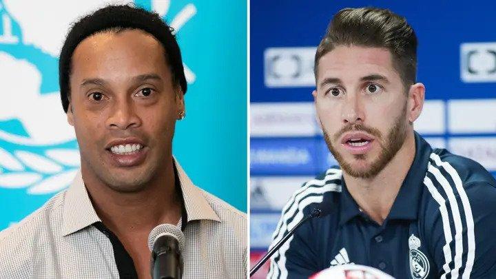 Ronaldinho's attempt to troll Real Madrid legend Sergio Ramos on social media backfires