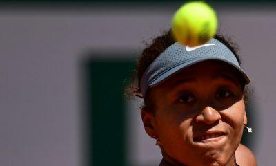 The Japanese Naomi Osaka during the 1st round of Roland-Garros, May 30, 2021. MARTIN BUREAU / AFP