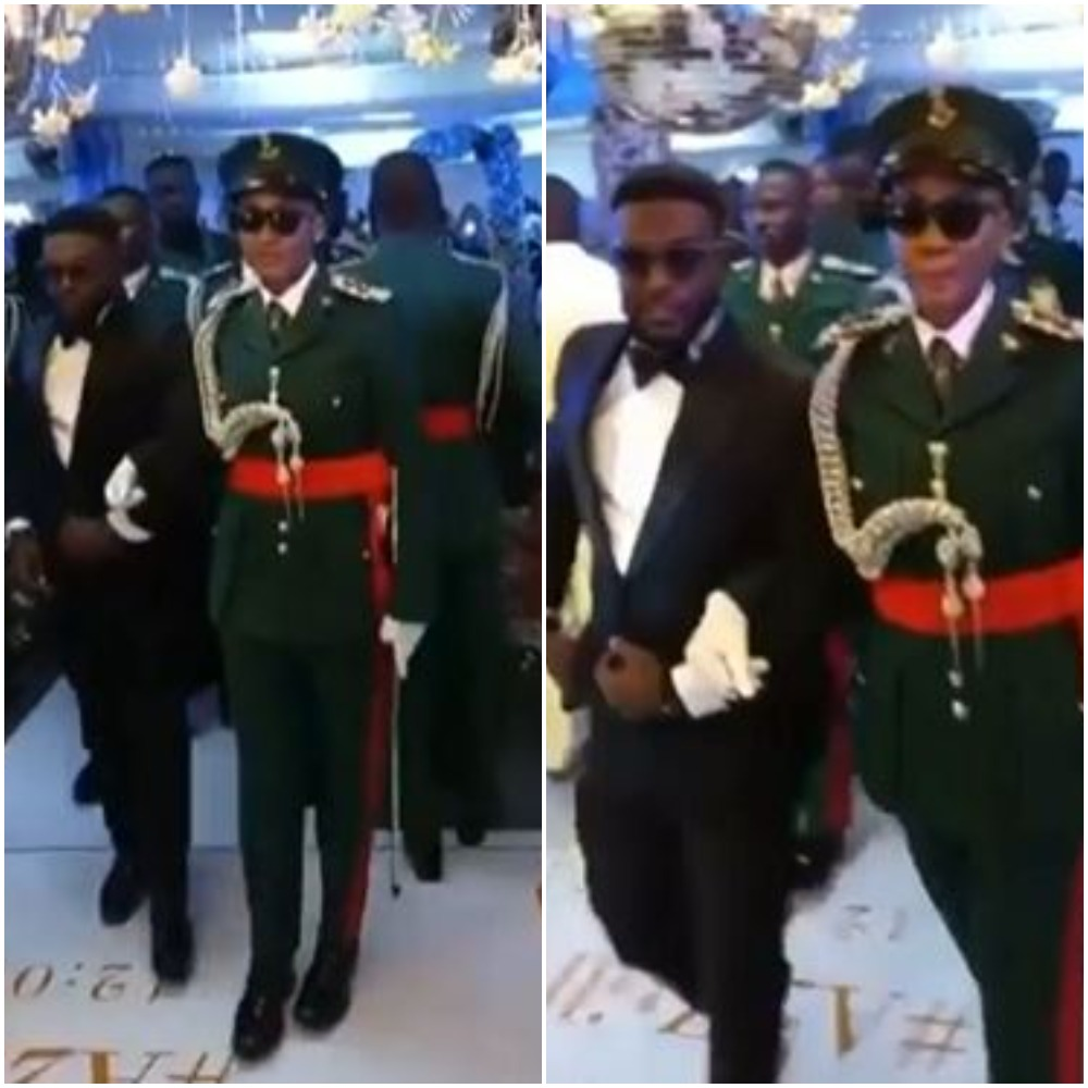 Why Does The Groom Looks Scared - Reactions As Female Officer Marries The Love Of Her Life