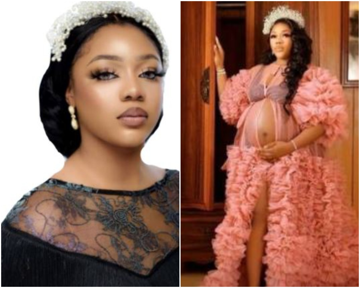 KolaqAlagbo Boss And His Second Wife, Kayamata Queen Miwa, Welcome Their Son