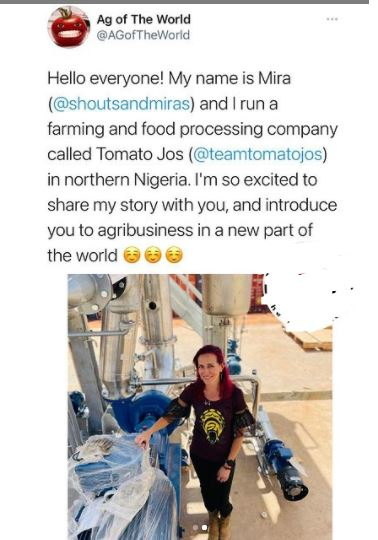 """White Woman Replies After APC Used Her Tomato Factory For """"Political Agenda''"""