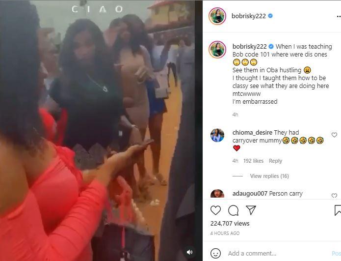 'I Am Embrasssed' Bobrisky Mocks Girls 'Hustling' To Enter Obi Cubana's House
