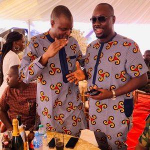 Abba Kyari Strikes Pose With Obi Cubana At A Friend's Father Burial