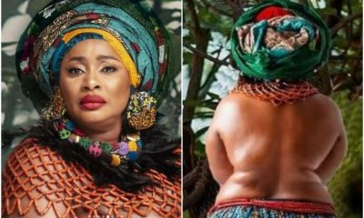 Actress, Clarion Chukwurah Goes Topless For Her Birthday Shoot