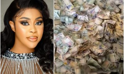 Actress, Mini Shows Off Huge Money She Was Sprayed At Her Birthday