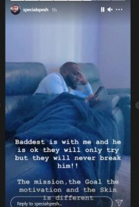 Davido's Hypeman, Spesh Shares First Photo Of Him Days After Sudden Death Of Obama DMW