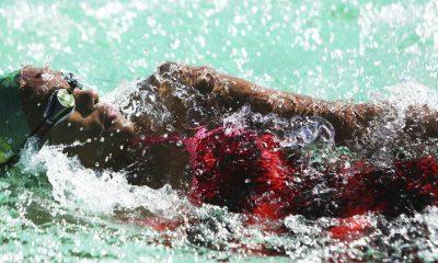 Donata Katai at a swim training session in Harare, Zimbabwe, Saturday July 10, 2021
