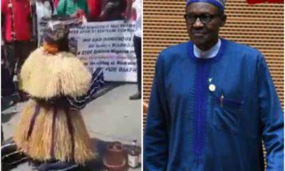 Igbo Masquerade Begs Buhari To Free Nnamdi Kanu
