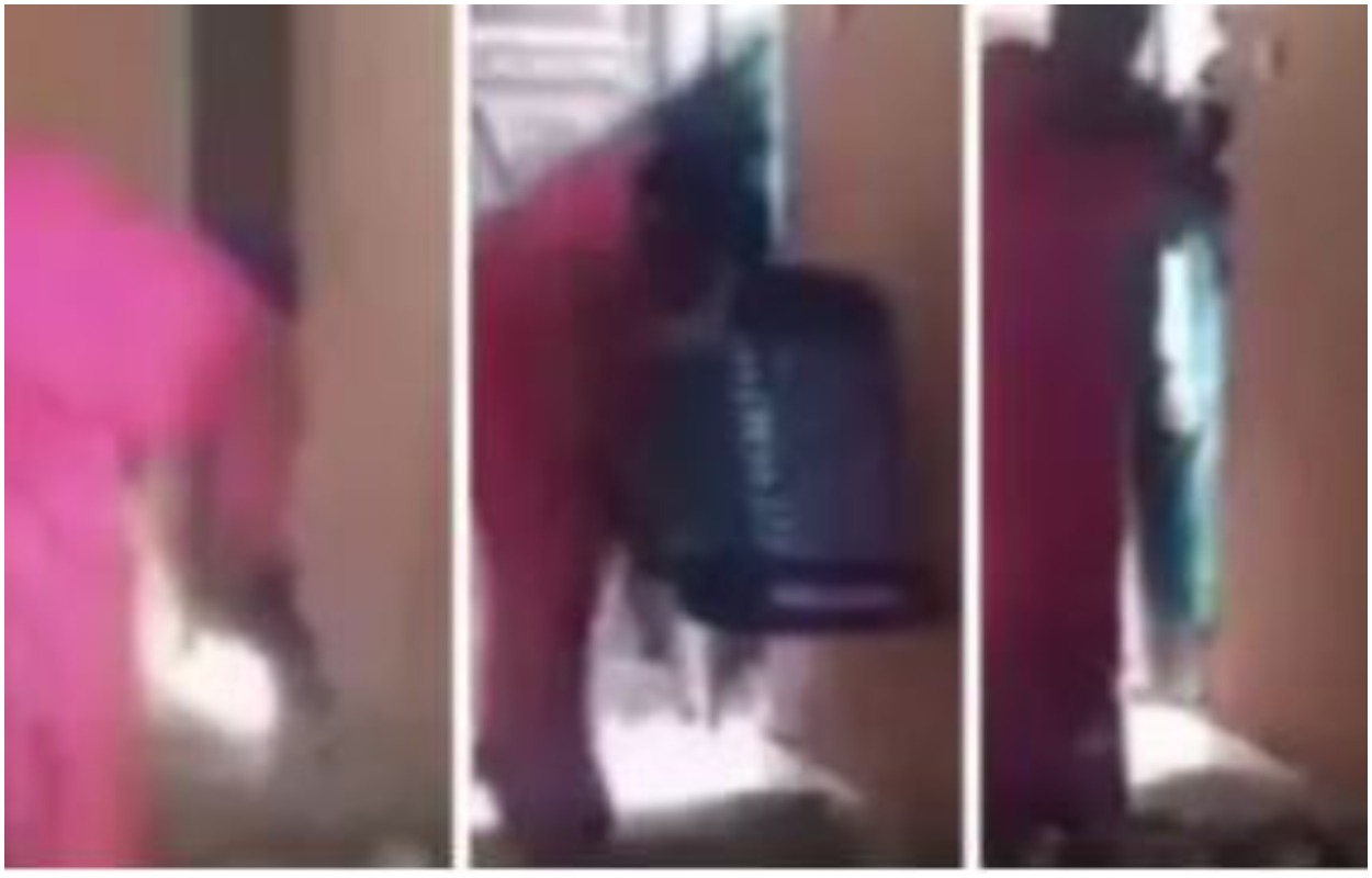 Nigerian Woman Caught On Camera Stealing Church Offering