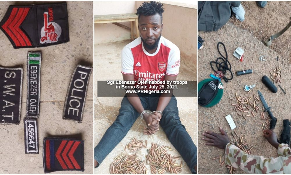 Troops Arrest Suspect With Dangerous Weapons In Borno