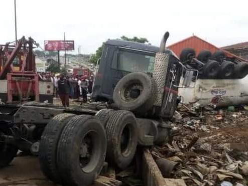 Many Dead As Tanker Crashes Into Ibadan Market