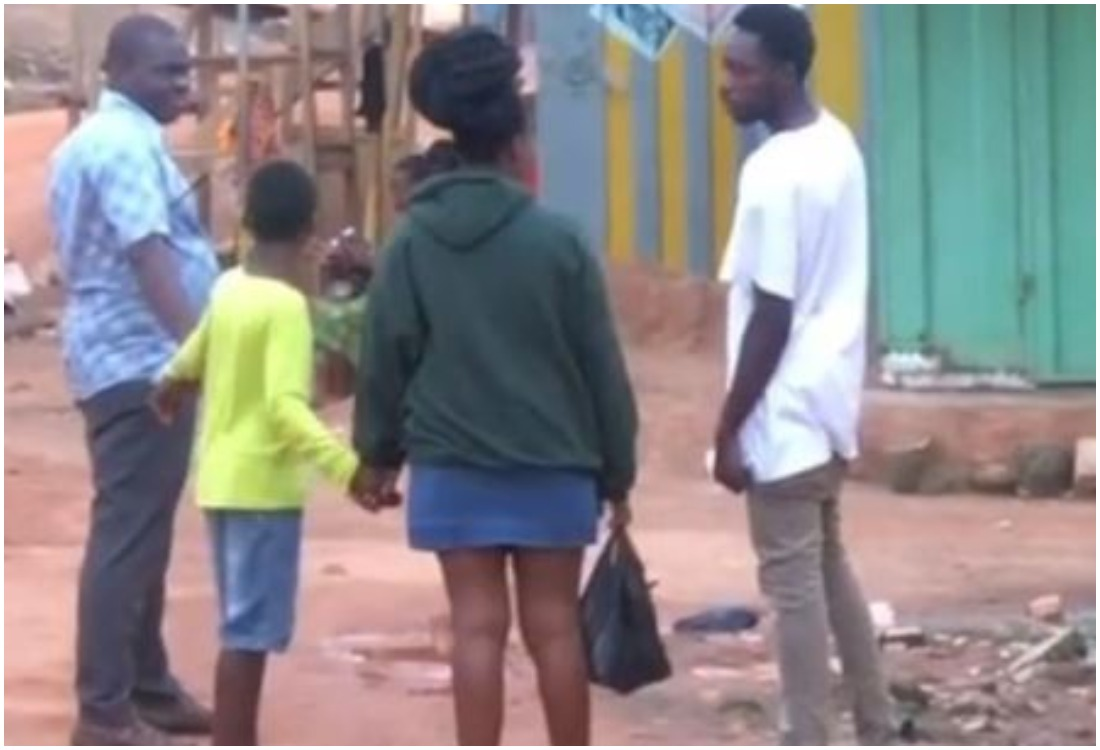 Young Boy Boldly Collects Girl's Phone Number In Her Father's Presence (Photo, Video)