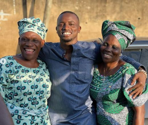 Davido's Former PA, Aloma shows off his mother
