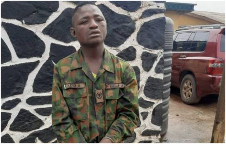 Nigerian man kidnaps Military man, strips him off his uniform and uses it to commit crime