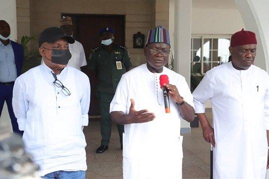 PDP: Wike, Secondus, Ortom Meet In Benue